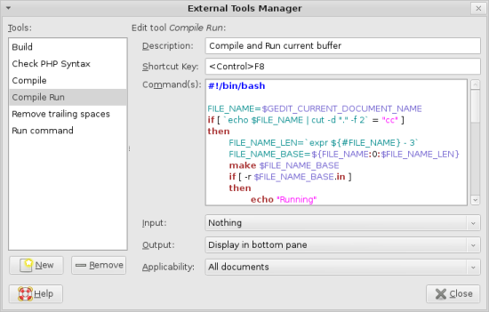 External Tools Manager