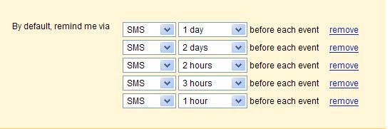 Google Calendar Notification